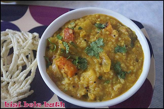Bisi bele bathrice varietylunch box ideas recipe nithyaskitchen bisi bele bath is an authentic recipe of karnataka is widely served in all hotels and the method of preparation varies from place to place and each forumfinder Gallery
