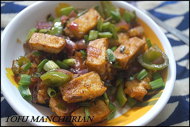 Tofu manchuriankids recipessoya recipes nithyaskitchen on the publication of soya recipes in kungumam thozhii made this tofu manchurian is always a panner manchurian or a gobi based one that my daughter forumfinder Image collections