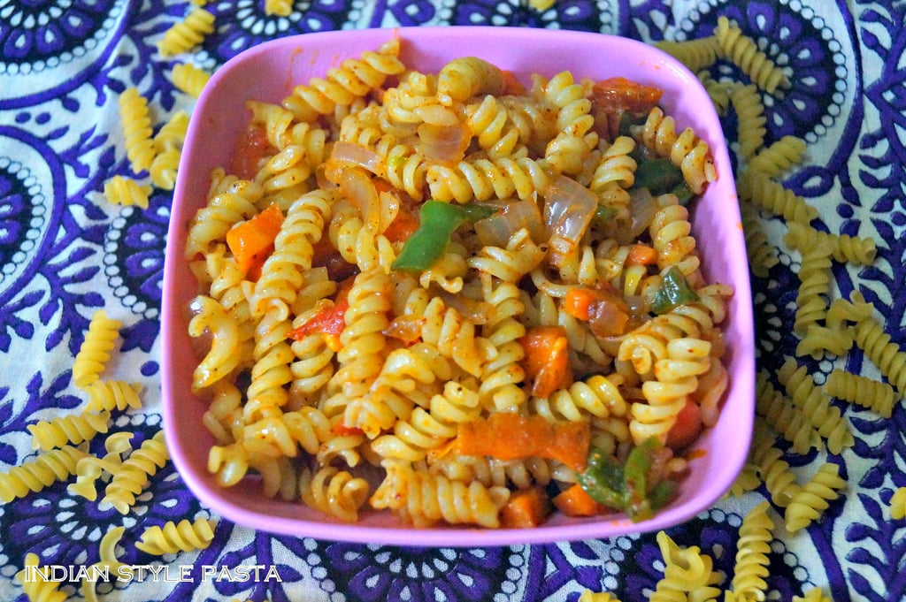I Usually Try Pastas With White Sauce Or Red Saucebut For A Change Tried This Pasta Recipe Our Very Own Indian MasalasI Had Half Packet Of Spiral