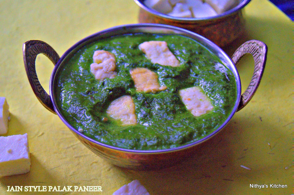 Jain style palak paneer recipe nithyaskitchen i usually make one dry curry and one gravy with my rotisis palak paneer is ideal to pair with any curry and is deliciousif you are out of time and in a forumfinder Choice Image