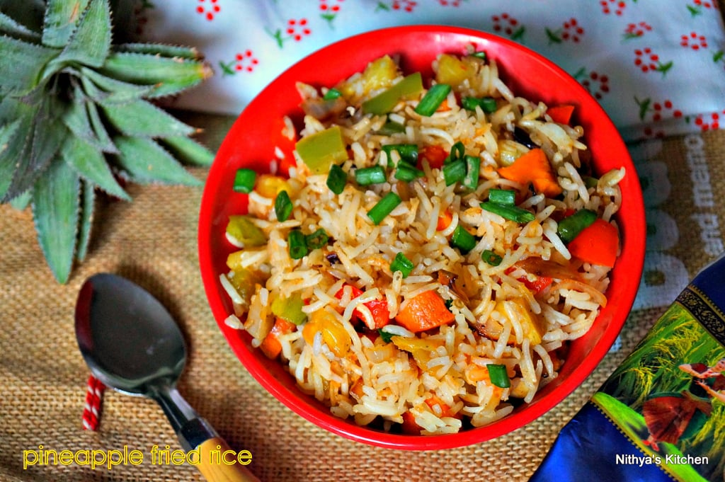 Pineapple fried rice recipe nithyaskitchen pineapple fried rice was one of the things which i wanted to post for a long time i had kohinoor authentic basmati rice in my pantryi set out to make ccuart Image collections