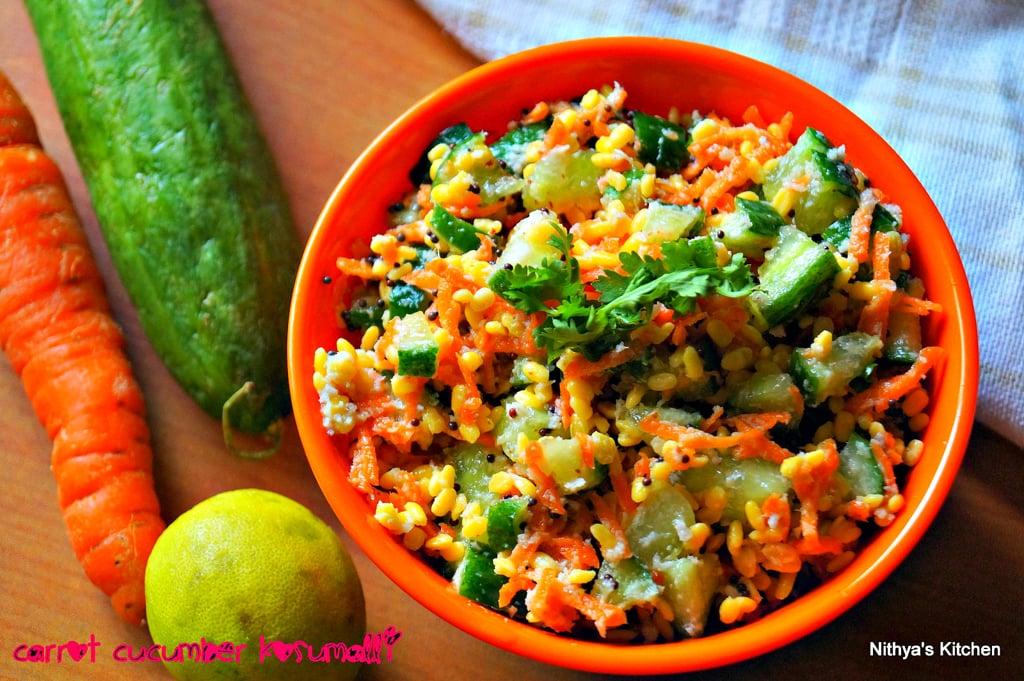 Carrot Cucumber Kosumalli Recipe Nithyaskitchen